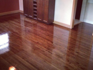 Stained Red Oak Hardwood Floors