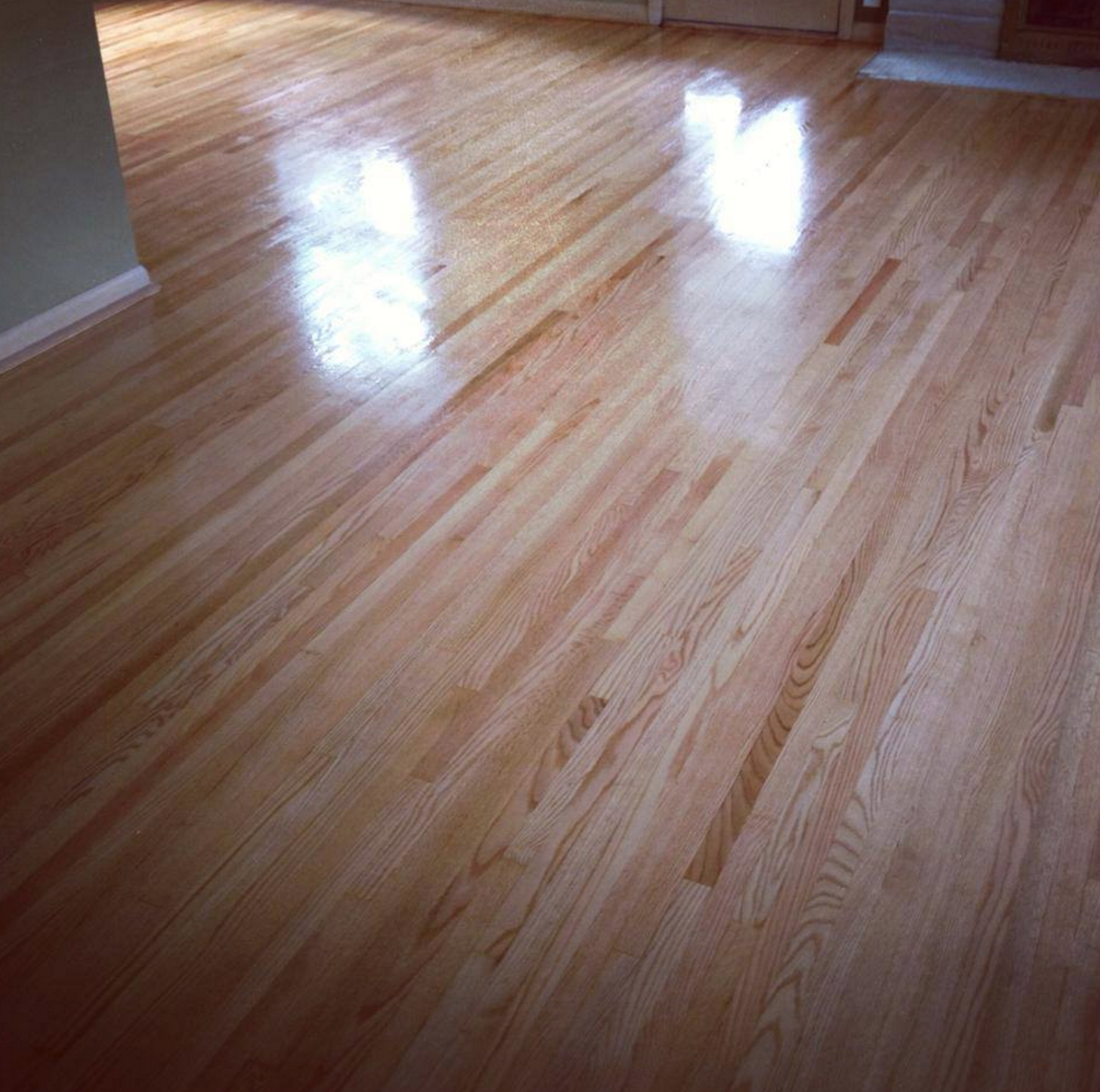 Refinished Light Red Oak Hardwood Floors In Richfield