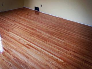 Red Oak Hardwood Floors Sanded and Refinished