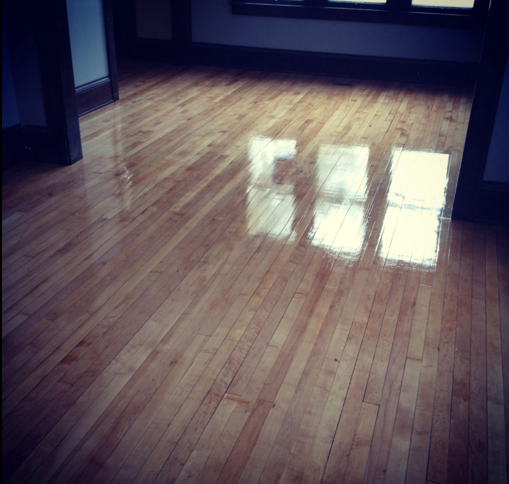 ... We Refinished These Maple Hardwood Floors In Minneapolis ...
