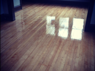 We Refinished These Maple Hardwood Floors in Minneapolis