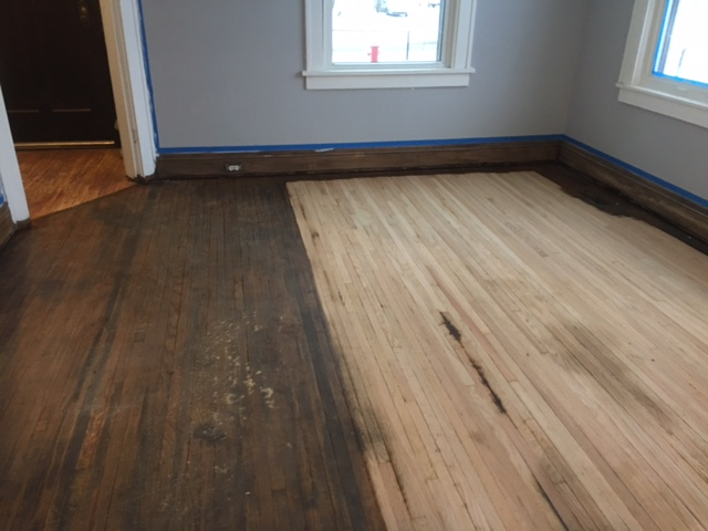 Staining a hardwood floor arne 39 s floor sanding for Columbia flooring application